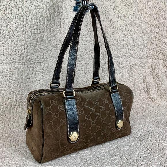 Gucci Handbags - Rare Gucci Suede Boston Bag